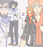 Lysandre and Sycamore Color-Swap by Miiette
