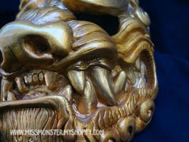 Gold Komainu masks last editions by missmonster