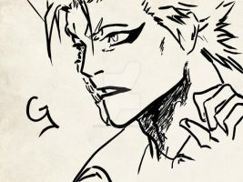 Grimmjow sketch by GrimmjawJack