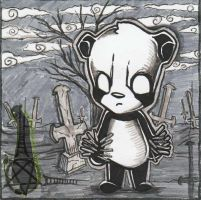 Black Metall Panda by nightgrowler