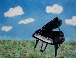 Piano in the Meadow by brooke1110
