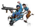 New Team Fortress 2 Assault Vehicle - Wheelbarrow by Tadeu-Costa