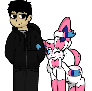 Master and Pokemon ( Colored + Fixed ) by TheGhostNoobTerror