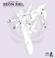 Zeon Ziel Concept Art by CGVickers