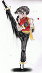 Bloody Roar 5 Concept Art- Jin Long by TeamAquaSuicune