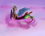 Discord on cotton candy by Lanternae