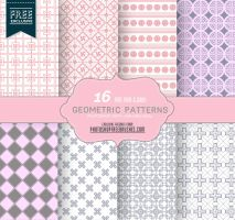16 Seamless Pink and Gray Geometric Patterns by fiftyfivepixels