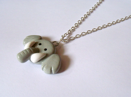 Cute Elephant Necklace by MariposaMiniatures