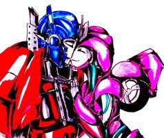 .:PC:. Laurelin Prime and Optimus Prime by Micelux