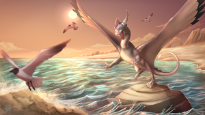 Chasing the Sun! (commission) by Epic-Starzz