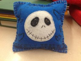 Jack skellington pillow by vampsaiyain