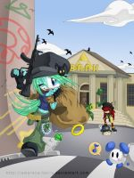 Bank Robbery - April Calendar by Amarena-Berry