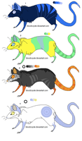 Rat adoptables 2 by freaking-adopts