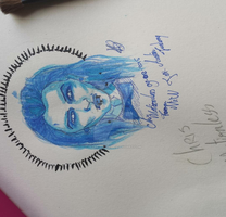 My new waterpainting of Chris Motionless by Beertje2014