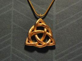 Triquetra Celtic Knot Necklace by dfoley75