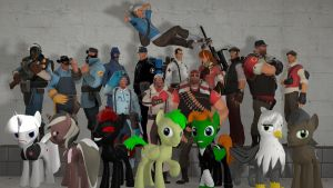 gmod - The whole damn cast by Stormbadger