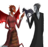 Dean Hardscrabble and Pitch Black by HezuNeutral