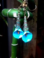blue earrings by sississweets