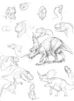 Dinosaurs pencil by marciolcastro
