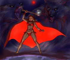 If Frank Frazetta illustrated Red Riding Hood v1 by Nick-Perks
