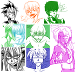 YGO Sketch Dump-Warning: Yaoi by Krooked-Glasses