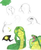 Character Sketches: Adder by Dino-blankey
