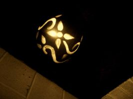 finished carved pumpkin by flap2chowder