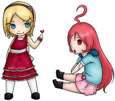 Vocaloid - Rin and Miki by Frankemix