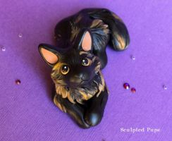 Smudge cat sculpture commission by SculptedPups