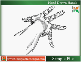 Hand Drawn Hands-Vector by Stockgraphicdesigns