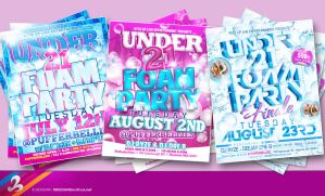Foam Party Flyers by AnotherBcreation