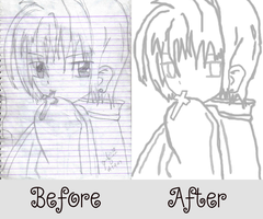 Recreating Kurapika Comparison by trampskey