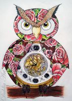 Owl tattoo design - Finished by LadySayuri