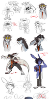 Rabbits Rabbits and More Rabbits by kittykatmaniac