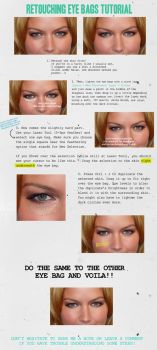 Retouching Eye Bags by monxcheri
