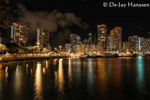 Honolulu After Dark by HanssenPhotography