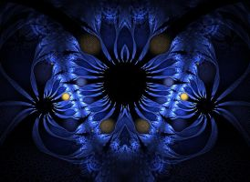 Blue sunflower by eReSaW