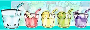 JellyDrink Family in Bookmark by meiji1990