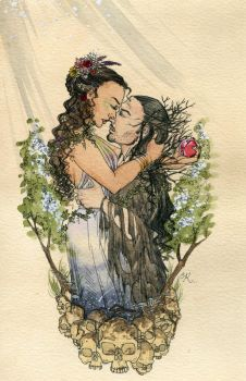 Hades and Persephone by Kitty-Grimm