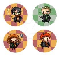 Harry Potter buttons by HanHan