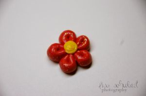 fimo flower by seasfairytale