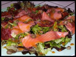 Salmon Salad by Snowflaky