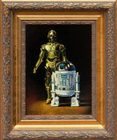 R2-D2 and C3PO - Star Wars Figure Oil Painting by matsgunnarsson