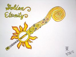 Golden Eternity Keyblade by JazzyTyfighter