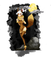 Poketown - Halloween Eevee by The-Big-Pumpkin-Inc