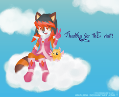 Thanks for the visit :D by Amalika