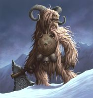 Woolly Beast Man by DaveAllsop