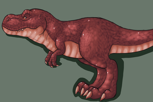 Red T Rex by Night-Wolf122