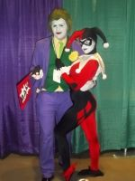 Mr. J and Harleyquin by Aosou-kun