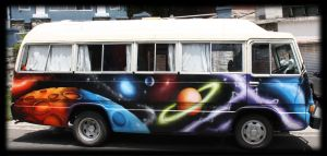 Crazy Graffiti Decoration Space BUS by Graffiti-decoration